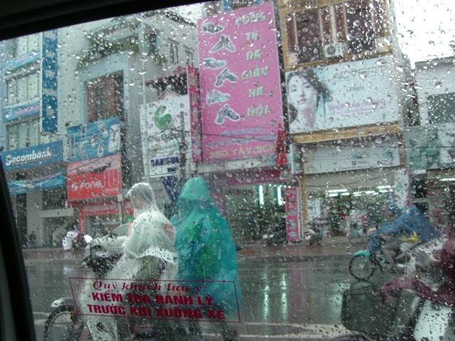 タクシーの中から撮影